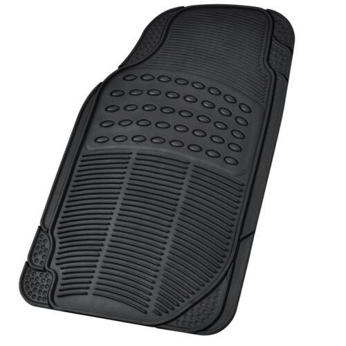 Rubber Liner for Toyota RAV4 Floor Mats Black 3 PC Semi Custom Fit All Weather