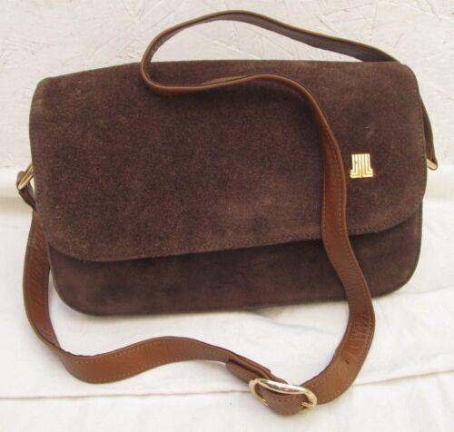 Bag À Sac En Vintage Cuir Lanvin Main Et Daim Authentique 5z4Bxw