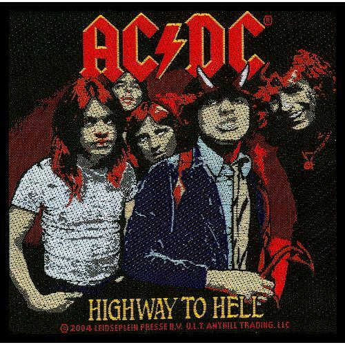 ACDC Standard Patch Highway To Hell Iron Sew On Patch 90mmx90mm Badge Official