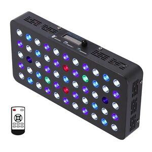 sunspect 165w led aquarium light built in timer coral 87856