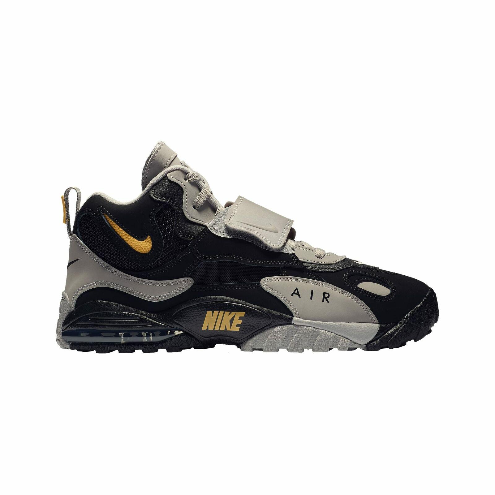 Nike Air Max Speed Turf - Men's Black Grey Yellow V7895001