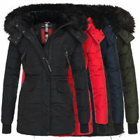 Navahoo Sesa Damen Winter Jacke Parka Teddy Fell Mantel Winterjacke warm B363