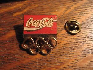 Coca-Cola-Olympics-Pin-Vintage-Coke-Olympic-Games-Soda-Pop-Lapel-Hat-Sports