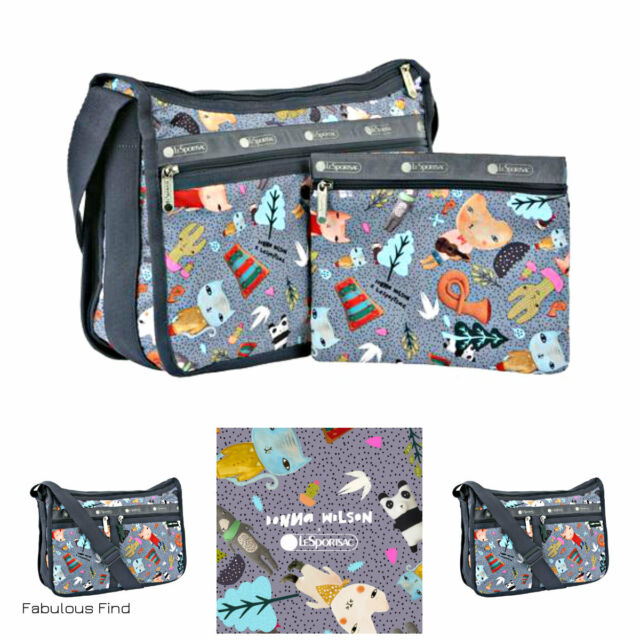 Lesportsac Donna Wilson Singing In The Woods Deluxe Everyday Bag Free Ship Nwt