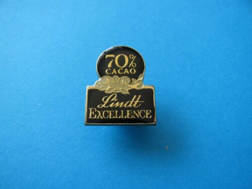Chocolate advertising Confectionery LINDT 70/% Cocoa pin badge VGC.