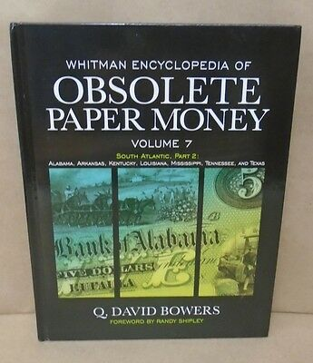 Whitman Encyclopedia Obsolete US Paper Money Vol 7 Tennessee and Texas Alabama