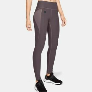 outlet store 6c4a8 34b38 Image is loading Under-Armour-Womens-Rush-Legging-Purple-Sports-Gym-
