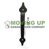 Garage Door Decorative Pull Handle 11 1/4 Black + Hardware