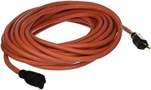 US Wire and Cable US Wire 65050 12/3 50-Foot SJTW Orange Heavy ...