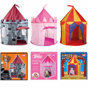 enfants pop up tente de jeu maisonnette ch teau princesse cirque cabane ebay. Black Bedroom Furniture Sets. Home Design Ideas