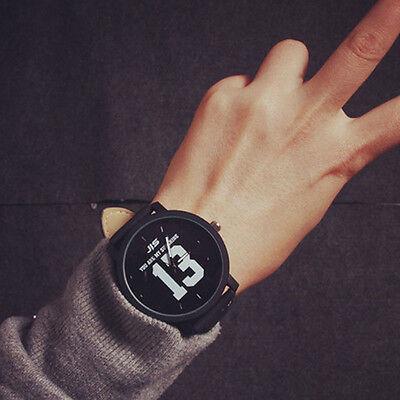 Fashion Lovers Men Women's Leather Band Casual Sport Quartz Analog Wrist Watch