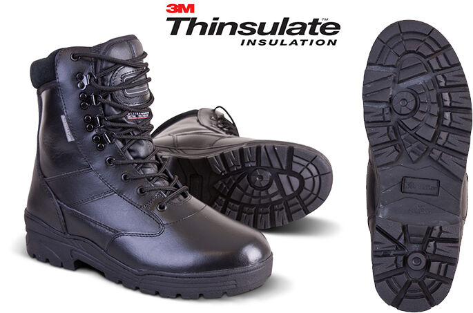 Militär Armee Swat Qualitäts Leder Kampf Patrouille Stiefel Taktisch Schwarz