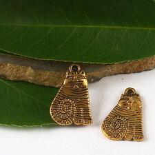 Antique Bronze Tone Alloy Star Shape Rhinestone Pendant Charms Crafts 32704 100x