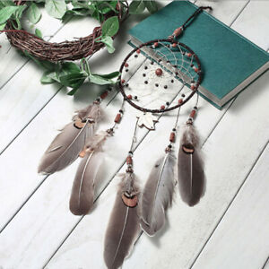 Handmade-Dream-Catcher-With-Feathers-Car-Wall-Hanging-Decoration-Ornament-Gift