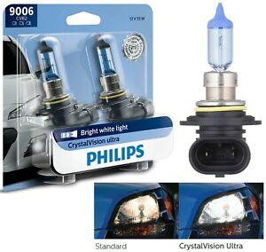 Philips Crystal Vision Ultra 9006 HB4 55W Two Bulbs Head Light Low Beam Upgrade