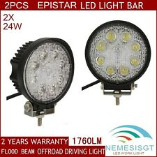 2X 24W LED Work Light Bar Spot Offroad Driving ATV SUV 4X4 Jeep Epistar 4WD