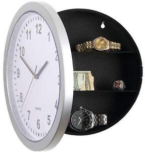 Horloge-murale-Secret-objets-de-valeur-Securite-Maison-Argent-Boite-Bijoux-tresorerie-stash-gold