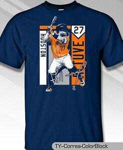 Houston-Astros-MLBPA-JOSE-ALTUVE-27-Color-Block-Youth-Boys-Cotton-T-Shirt-Navy