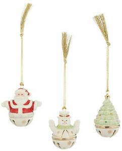 Lenox-Sleigh-Set-of-3-Figural-Bell-Ornaments-NEW