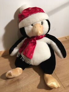 18-Soft-Plush-Christmas-Chilly-Penguin-Hug-Toy-Teddy-In-Hat-amp-Scarf