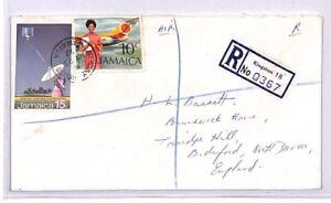 Xx218 1972 Jamaïque Kingston Mercure House Inscrit Gb Devon Airmail Cover RéTréCissable