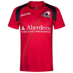 Edinburgh Rugby macron Herren Rugby Fan Heim Auswärts Trainings Trikot blau neu