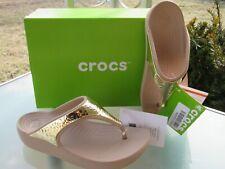 e61cd75342e7 Crocs Sloane Embellished Flip Gold Metallic Womens Flip-flop Size ...