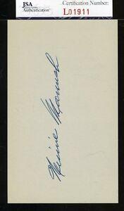 Heinie Manush Jsa Authenticated Signed 3x5 Index Card Autograph