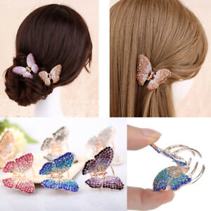 Butterfly-Claw-Women-Girl-Crystal-Rhinestone-Hair-Clip-Clamp-Hairpin-Accessory