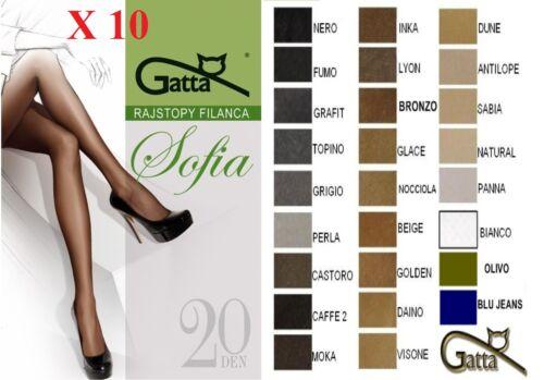 GATTA SOFIA COLLANT 20 DEN LOT COULEURS TOUTES LES TAILLES TG.2,3,4,5,6 COLANTS