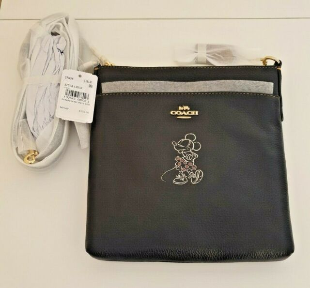 Disney X Coach Minnie Mouse Messenger Crossbody Bag With Tags