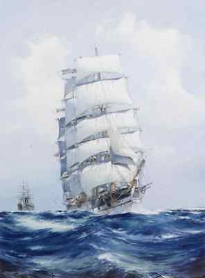 Art wall Best gift Ship Sailing Oil painting Picture Print on canvas Decor Npc47