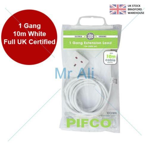 Extension Lead Câble Prise électrique Prise UK Alimentation Secteur 10 Gang Way