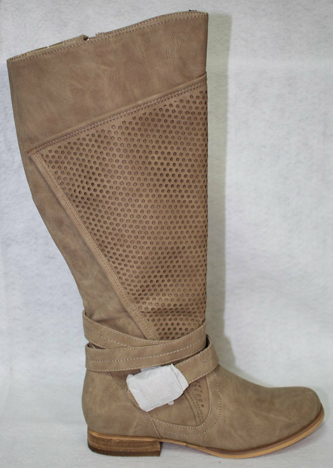 Not Rated Wind Zone Cream Round Toe Synthetic Knee High Stiefel US schuhe Größe 8.5 M