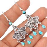 Fire Opal 925 Sterling Silver Earring Jewelry EE5219
