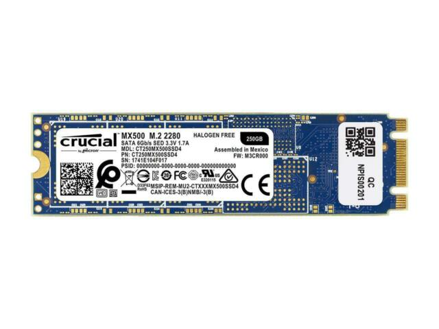 Crucial SSD MX500 250 Go 250 G M.2 2280 3D NAND SATA III interne CT250MX500SSD4