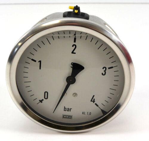 Wika Manometer 0 - 4 barAnschluss 1/2Ø100 mm213.53.1009023313
