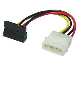 SATA-Strom-Adapter-Kabel-Power-Winkel-ab-gewinkelt-S-ATA-IDE-15cm-0-15m-1w