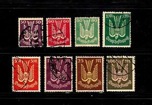 Germany stamps #C5-C14, short set, minus a couple, mint & used, 1922-23, SCV $54