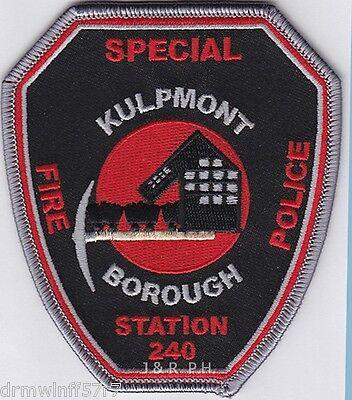 """Kulpmont borough  Station-240, PA  (3.5"""" x 4"""" size) fire patch"""