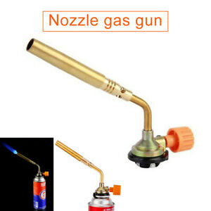 Gas Nozzle Outdoor Butane Flame Welding Torch Jet Burner Camping Cooking Picn n$