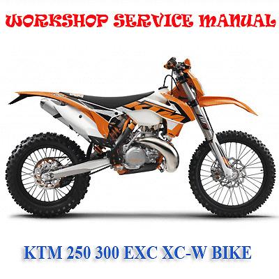 Ktm 250 300 Exc Xc W Bike 2016 Workshop Service Repair border=