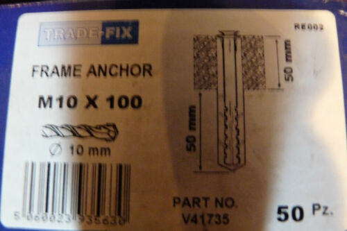 TRADE-FIX FRAME ANCHOR    M10 x 100  /&   M8 x 100    Brand New