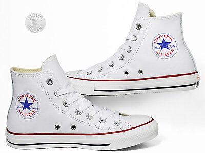 Converse 132169C:Chuck Taylor All-Star Leather High WHITE Sneaker Men/Women/Kids