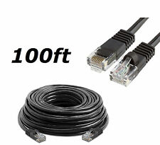 100 FT Cat5 Rj45 Ethernet LAN Network Cable for PC Xbox PS Internet Router Black