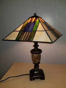 Antique Stained Glass Lamps.Details About Vintage Stained Glass Lamp Shade