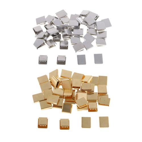50 Stück Klemmbleche Clamp Ends Hummerverschlüsse für Baumwolle Gurtband