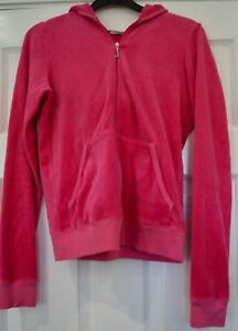 be6acaa0d JUICY COUTURE Hot Pink Velvet Hoodie & Branded Wide Leg Trousers ...