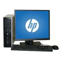 "HP 6200 Pro SFF i3-2100 3.1GHz 4GB 250GB DVD Windows 10 Home + 19"" LCD"