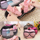 Cute Women Practical Bra Underwear Lingerie Briefs Travel Case Bag Organizer Box